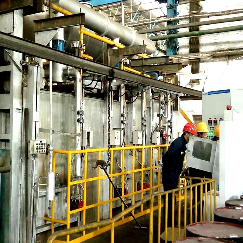拖拉机厂煤改天然气锻造加热炉设备现场